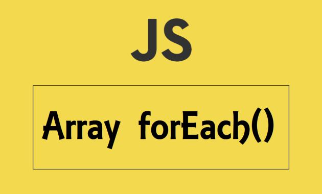 javascript Array forEach