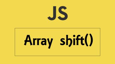 javascript Array shift