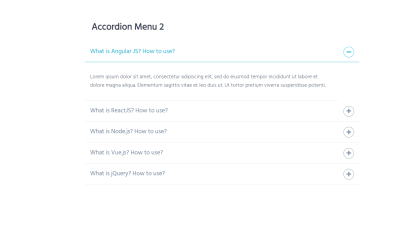 Accordion Menu 2
