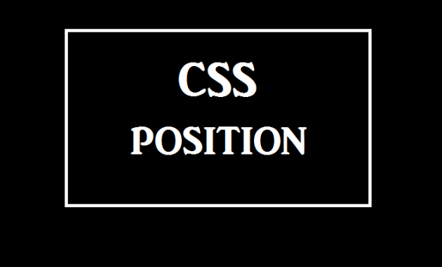 CSS Position