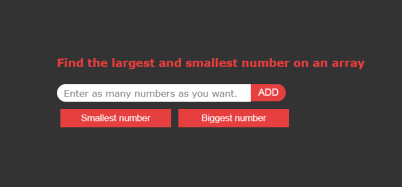 Find The Largest And Smallest Number On An Array