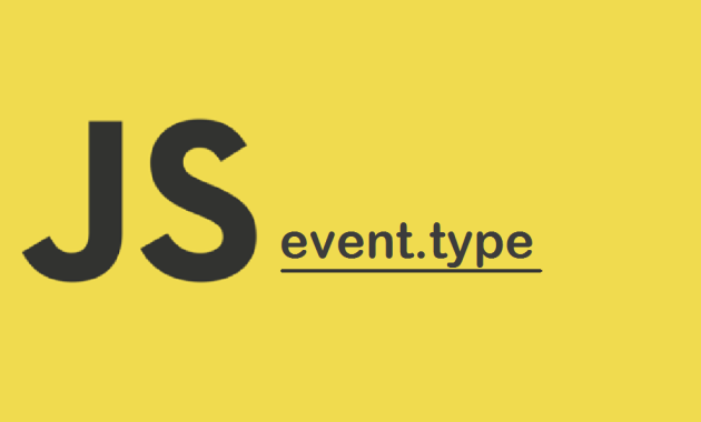 JavaScript event.type