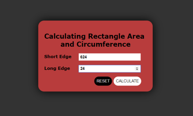 Javascript Rectangle Area and Circumference Calculation