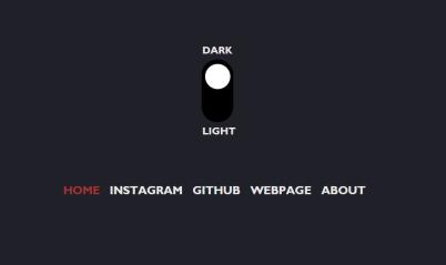 JavaScript dark light menu