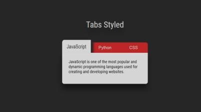 JavaScript Tabs Style