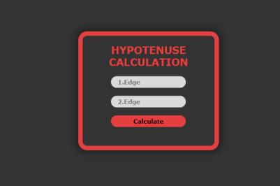 JavaScript - Hypotenuse calculation