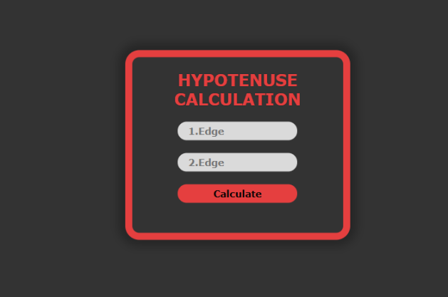 JavaScript - Hypotenuse calculation