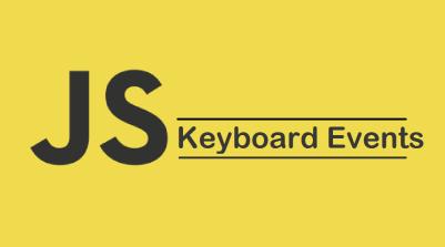 JavaScript Keyboard Events