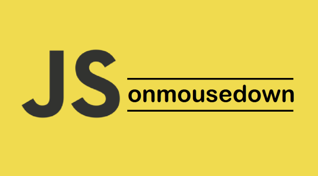 JavaScript onmousedown Event