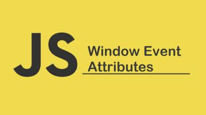 Window Event Attributes