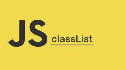 HTML DOM classList