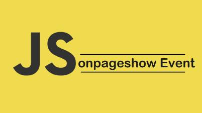 onpageshow Event