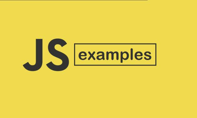 JavaScript Examples
