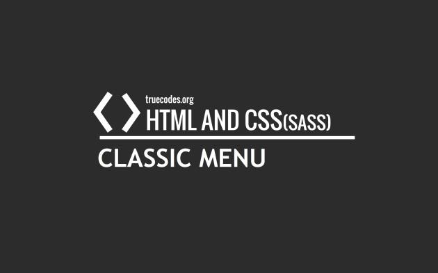 CSS Classic Menu