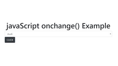 JavaScript onchange() Example