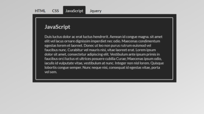 SCSS and JS Tabs