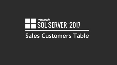 Sales Customers Table (SQL)