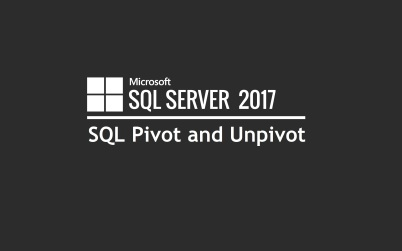 SQL Pivot and Unpivot