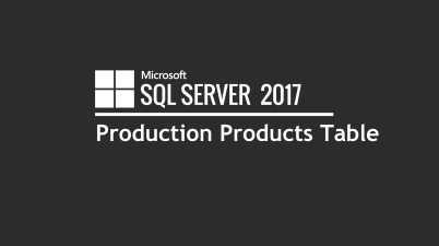 Production Products Table (SQL)