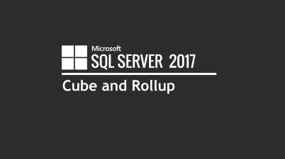 SQL Cube and Rollup