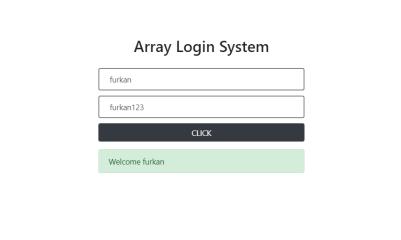 Array Login System