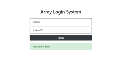 Array Login System