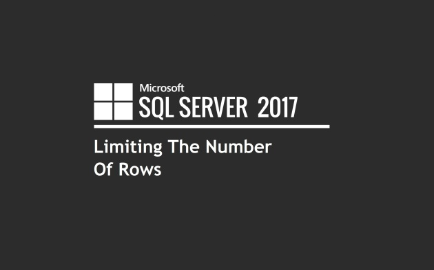 Limiting The Number Of Rows