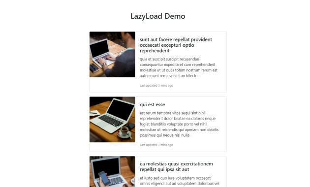React applications with Lazy Loading