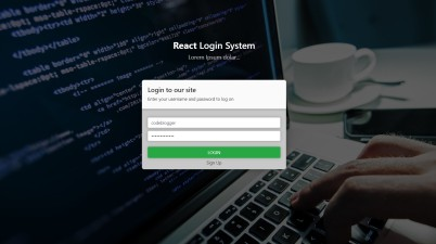 React JS Login System